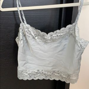randy melville silk cami with lace